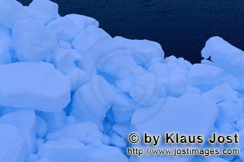 Cape Anne/Nunavut/Kanada        Packeis besteht aus dicht angeordneten Eisschollen        Am Ufer vo
