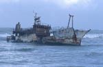 """Überreste von der Meisho Maru 38 am """"Nadelkap"""""""