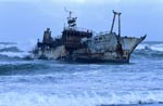 Fischtrawler Meisho Maru 38 gestrandet am Cape Agulhas