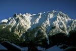 Karwendel im Winter vor Mittenwald