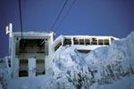 Ankunft Karwendelbahn Bergstation im Winter