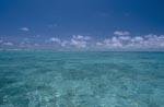 Midway Lagune mit Wolken am Horizont