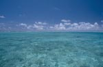 Midway Lagune mit Wolkenhimmel