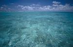 Glasklares Wasser in einer Midway Lagune