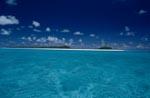 Südsee – Blauer Himmel. Sandstrand Lagune