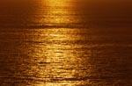 Goldener Sonnenuntergang über dem Meer