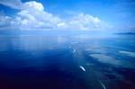 Luftbild Shark Reef mit Wolkenhintergrund